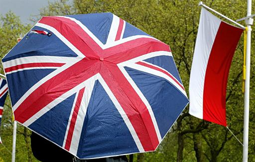 BRITAIN-POLAND-FLAGS
