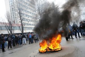 zamieszki w Tuzli