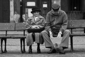 emeryci na ławce