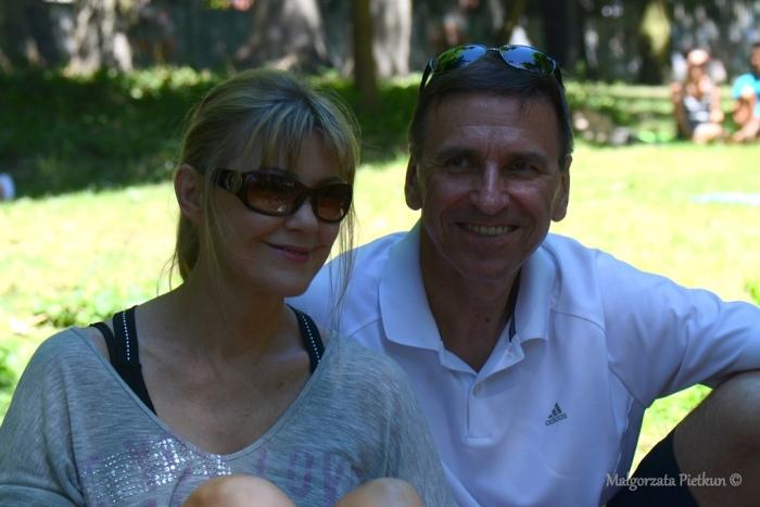 Piotr Grzymowicz z żoną