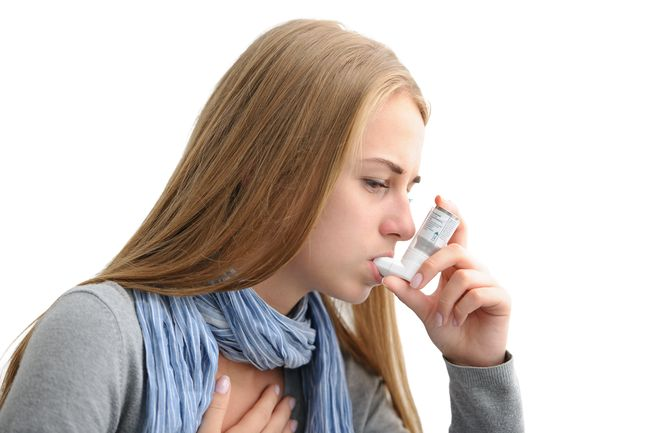 suffering from asthma